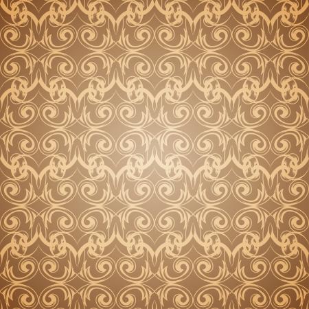 victorian wallpaper: Seamless beige pattern wallpaper in Victorian style  Vector illustration