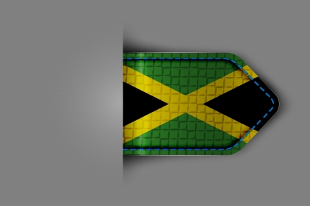 kingston: Flag of Jamaica in the form of a glossy textured label or bookmark. Vector illustration. Illustration