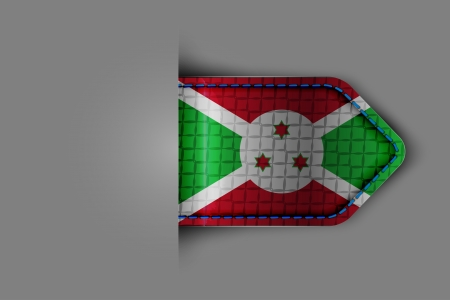 bujumbura: Flag of Burundi in the form of a glossy textured label or bookmark  Vector illustration