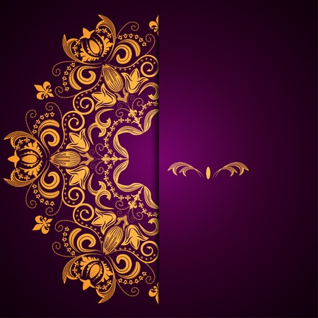 vertical divider: Stylish background with circular floral pattern and place for text Illustration