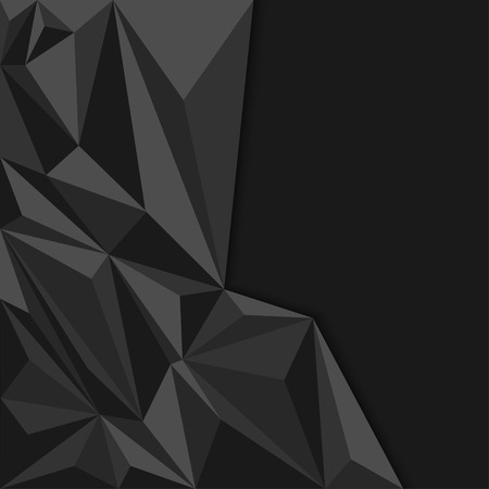 Black abstract geometric background polygon