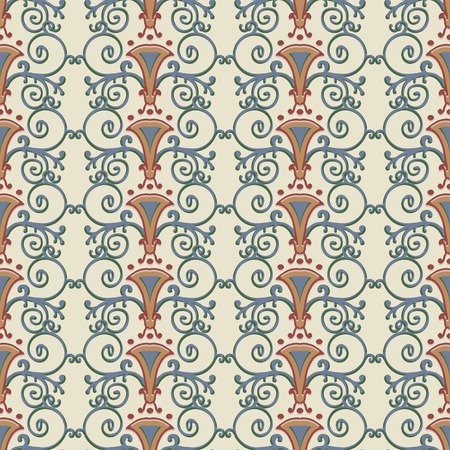 ancient roman: Seamless pattern stylized the ancient Roman. Vector illustration.