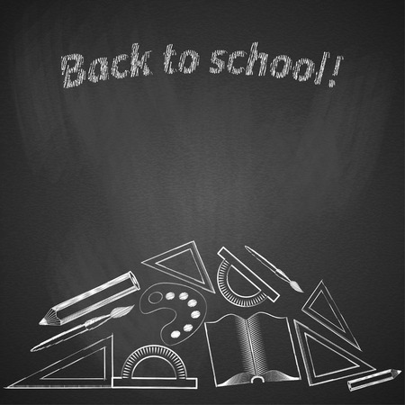 Background back to school. Vector