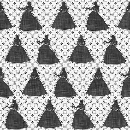 Seamless monochrome lace pattern. Vector
