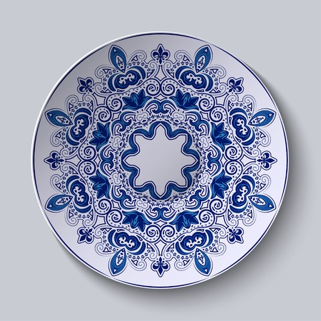 national fruit of china: Blue decorative ornament.