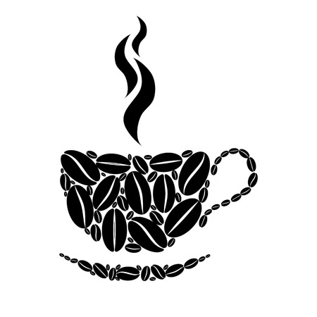 Cup of coffee.  Vector