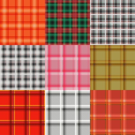 varicolored: Plaid varicolored pattern collection.