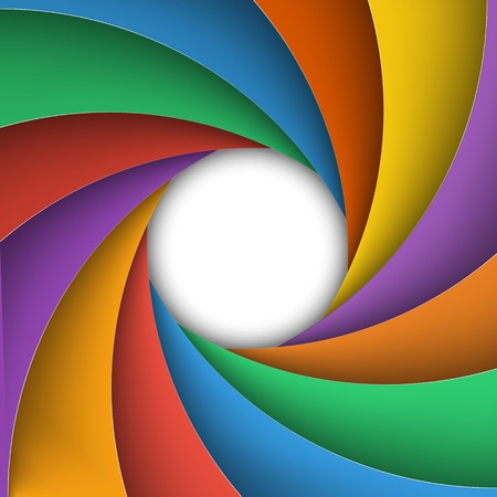 Varicoloured shutter aperture. Vector illustration. Vector