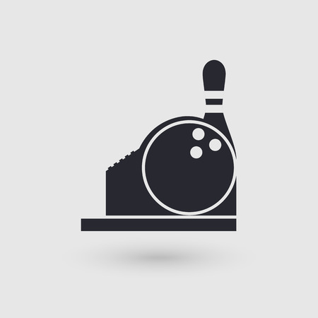 checkout counter: Icon bowling. Checkout Counter. Cashier bowling club.. Pictogram pointer. Vector illustration. Illustration