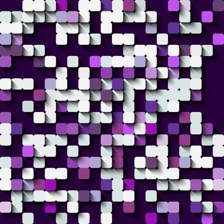 barren: Technology seamless pattern of squares. Vector illustration.