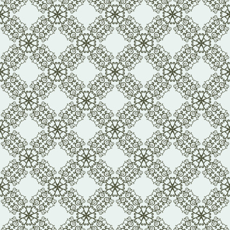 pastiche: East seamless two-tone pattern with curls. Pastiche of traditional Chinese ornament. Vector illustration. Illustration