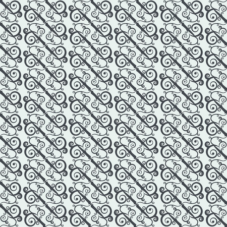 Seamless pattern with geometrically arranged curls. Stylized oriental ornament. Vector illustration. Vector