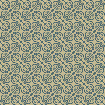Ethnic seamless pattern with swirls. Stylized traditional oriental and Chinese ornaments. Vector illustration. Vector