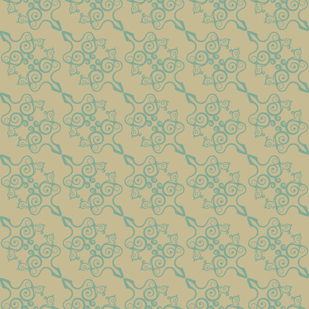 Vintage seamless pattern in the Chinese style. Vector illustration. Vector