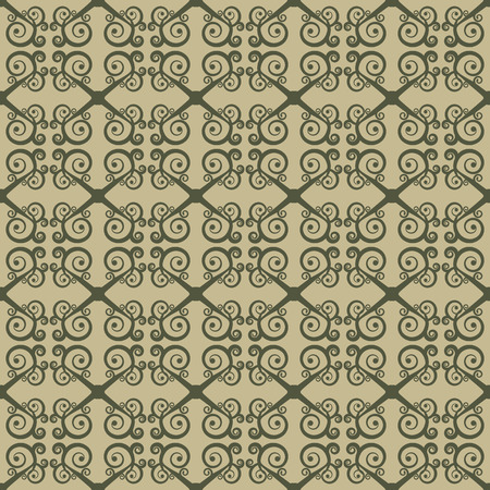 Seamless geometrical ornament with swirls. Stylization of Greek and Oriental patterns.  Vector illustration. Vector