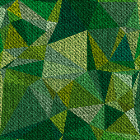 Denim seamless texture camouflage yellow-green color. Vector illustration.
