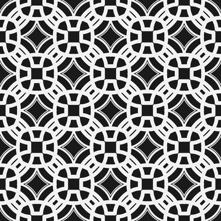 concave: Geometric seamless pattern. Repeating background with rhombus with concave sides.  Vector illustration Illustration
