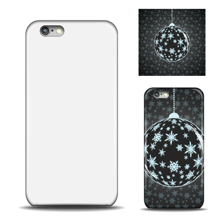 newest: Realistic Phone case. Blank template for design. Vector illustration