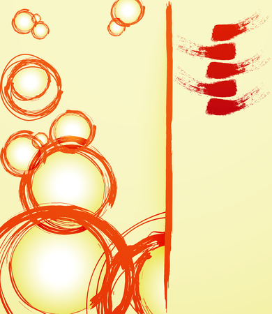 dabs: Bright abstract background with dabs of paint. Vector illustration