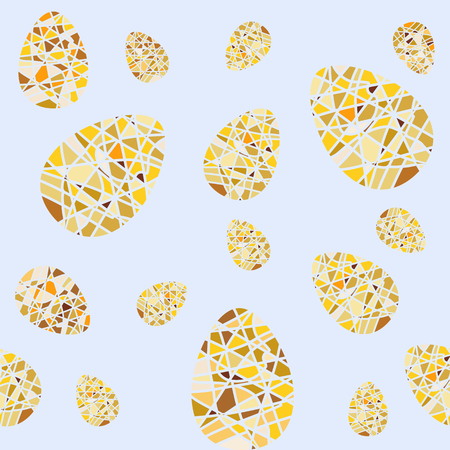 ostern: Repeating pattern of mosaic Easter eggs. Seamless background for wrapping paper textile products and web pages. Vector illustration