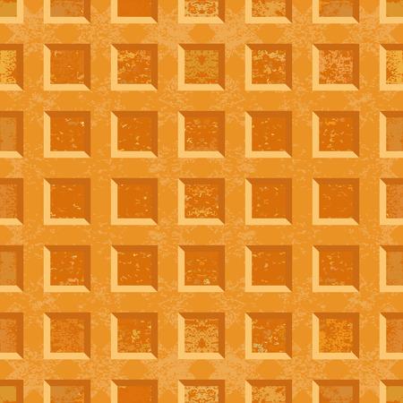crispy: Crispy Belgian waffles Seamless texture. Vector illustration.