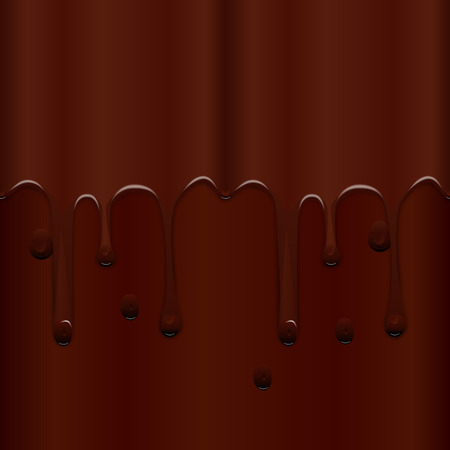 Seamless texture mouthwatering chocolate icing. Repetitive pattern of brown smudges. Vector illustration. Illustration