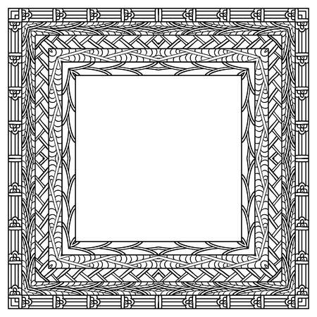 Ethnic frame. Hand drawn elements.