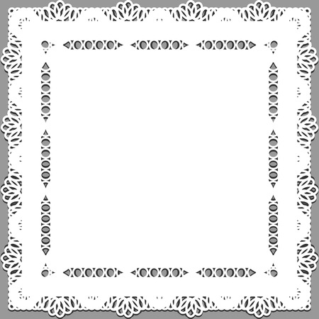 snug: Delicate lace doily on a gray background.