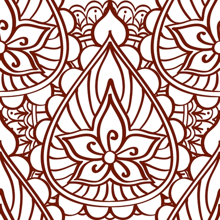seamless pattern with mehendi elements paisley indian vector rh 123rf com Repeating Pattern Wallpaper Repeating Pattern Design Patterns