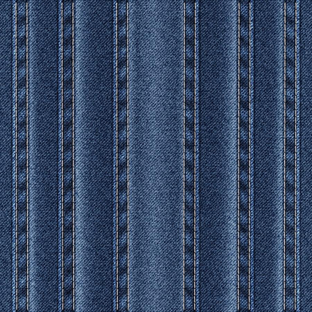 patchwork: Texture vertical seams on denim. Illustration