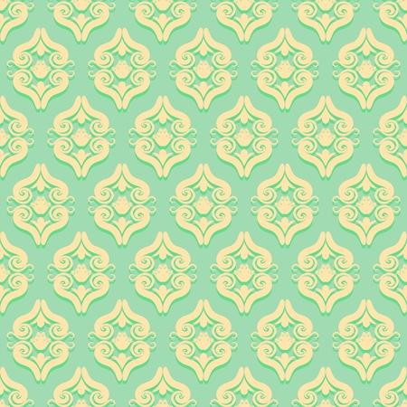 Vintage seamless pattern in Victorian style. Illustration