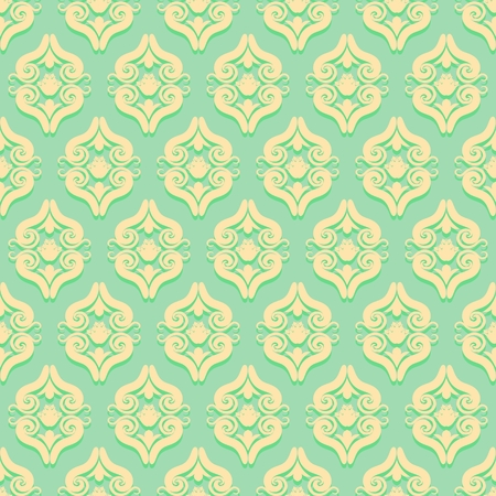 victorian wallpaper: Vintage seamless pattern in Victorian style. Illustration