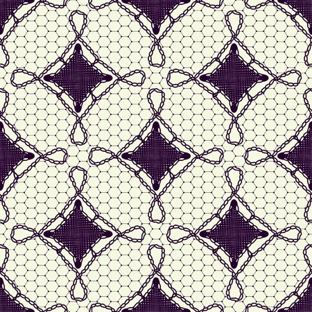 covering cells: Seamless pattern of lace canvas. Dark tracery on a White background. Vector illustration