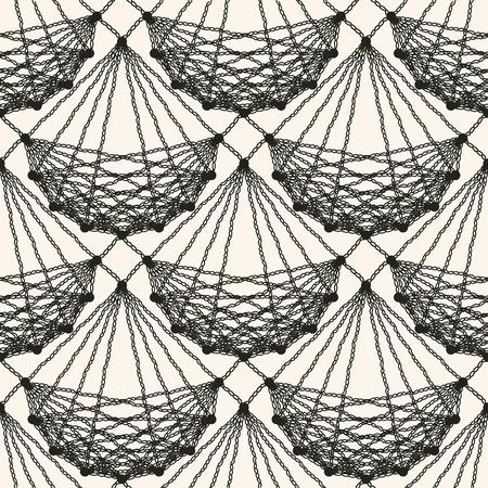 Nahtloses Spitzen-Strickmuster. Schwarzes kopierte Nettofliesenbeschaffenheit auf der hellen Hintergrund Vektorillustration Standard-Bild - 88336494