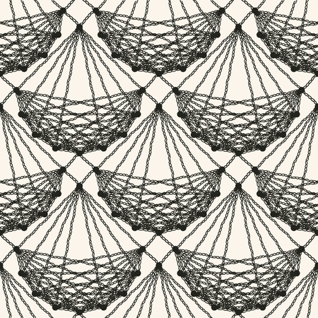 Seamless lace knitted pattern. Black patterned net tile texture on the light background Vector illustration Vector Illustration