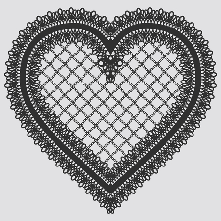 Lace element in the form of heart. Vector illustration 矢量图片