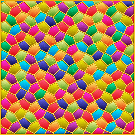 Background pattern with colored textured mosaic. Vector illustration