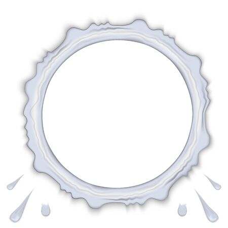 Transparent water ring frame splash and drops isolated on background. Vector illustration Stock Illustratie