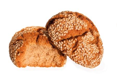 turkish cookies with sesame isolated on white background. Kuru pasta. Kurabiye Stock Photo