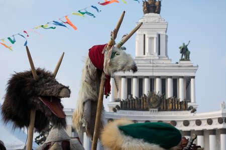 maslenitsa: MOSCOW - FEBRUARY 2015. VDNKh (All-Russia Exhibition Centre). Maslenitsa celebration.