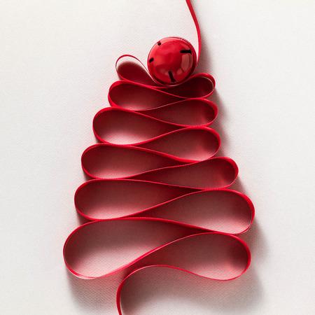 christmas tree made from ribbon Stock Photo