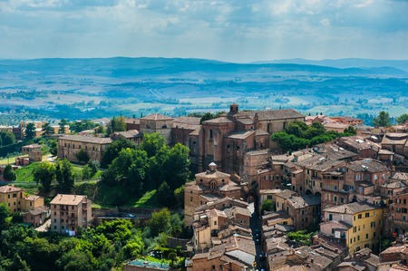 sienna: Siena. Image of ancient Italy city, view from the top. Stock Photo