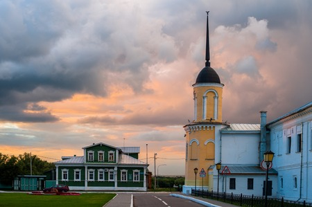 The ensemble of the buildings of the Cathedral square in Kolomna Kremlin. Kolomna photo
