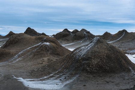 hydrocarbon: Mud Volcano at gobustan in Azerbaijan, Baku