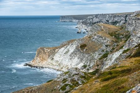 Seashore. Tarhankut, Dzhangul Russian Crimea at summer