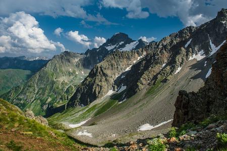 The beautiful summer landscape in Arkhyz, Russia