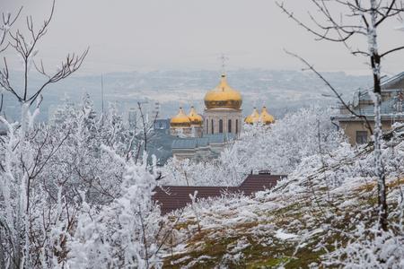 Winter landscape of Pyatigorsk, Northern Caucasus, Russia Stock Photo