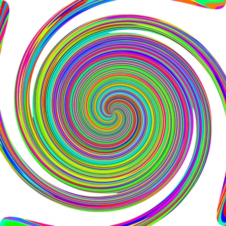Rainbow vortex on a white background  photo