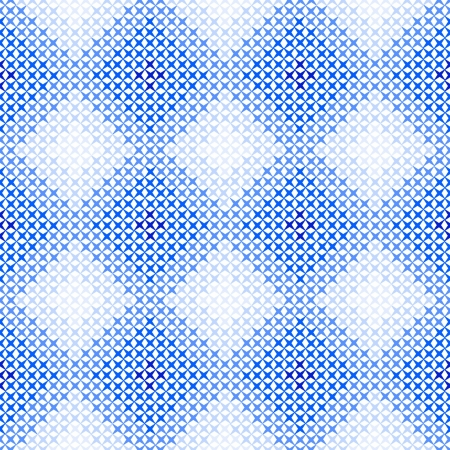 Seamless pattern for embroidery in blue  photo