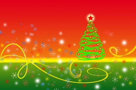 Christmas tree on red background  Festive pattern  Stock Photo - 15830196